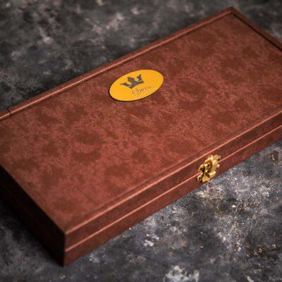 باکس تمام چرم قهوه ای